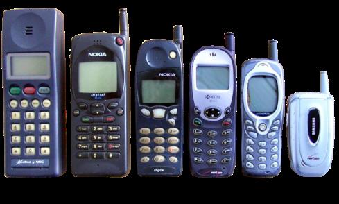 Mobile phone timeline